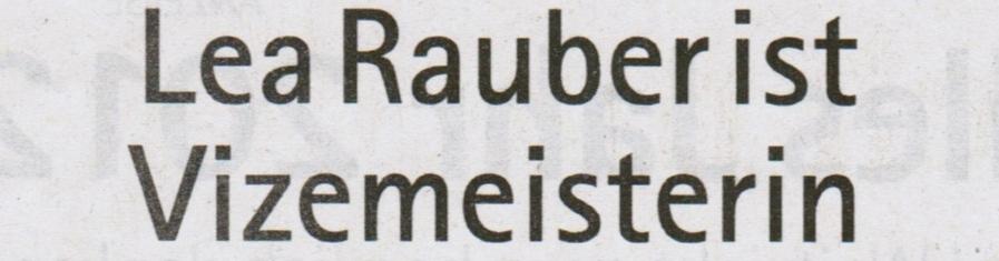 Lea Rauber ist Vize-Meisterin
